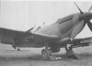 74 Squadron Spitfire IX with rockets and 500 pounder.