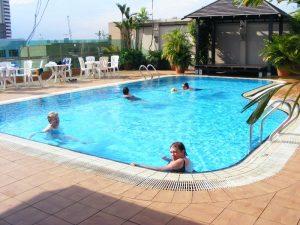 hotel rooftop pool