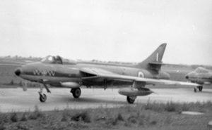 74 sqdn Hunter XE612 Coltishall July 28, 1959