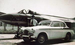 Ian Cadwallder and car