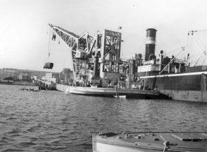 Unloading 74 at Valetta Sept 1935