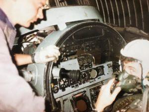 ZE359 Rear cockpit Kevin Jones
